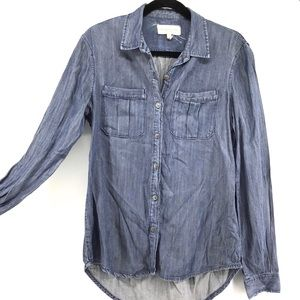 Articles Of Society   Chambray Button Front Top
